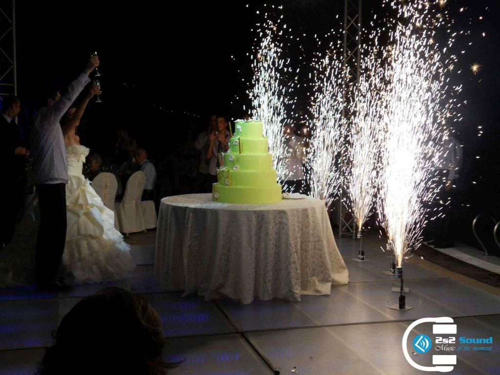 Pyrotechnika na svadbu 2