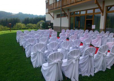 Ozvučenie svadobného obradu, exteriér
