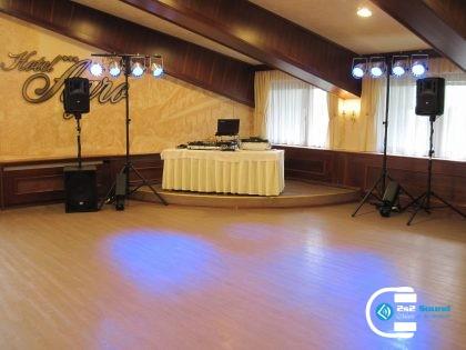 DJ na svadbu Agro, osvetlenie a ozvučenie