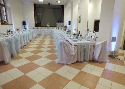 Osvetlenie sály, príprava svadby