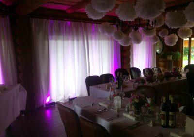 DJ na luxusnú svadbu, dekoračné osvetlenie