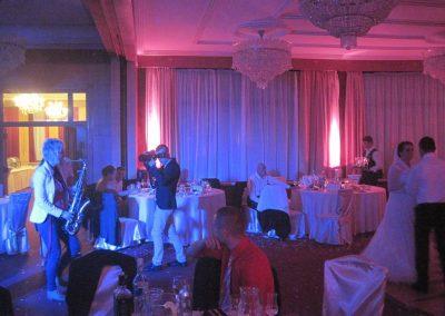 DJ a ozvučenie saxofonistky, luxusná svadba