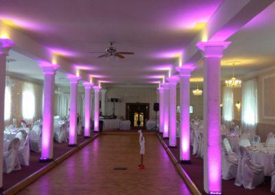 Dekoračné osvetlenie sály
